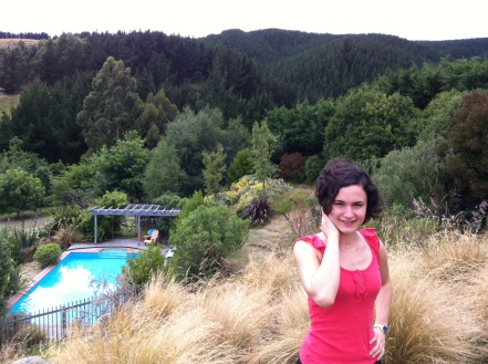 In Nick's parents's garden, after a 36 hour journey from the other side of the world.